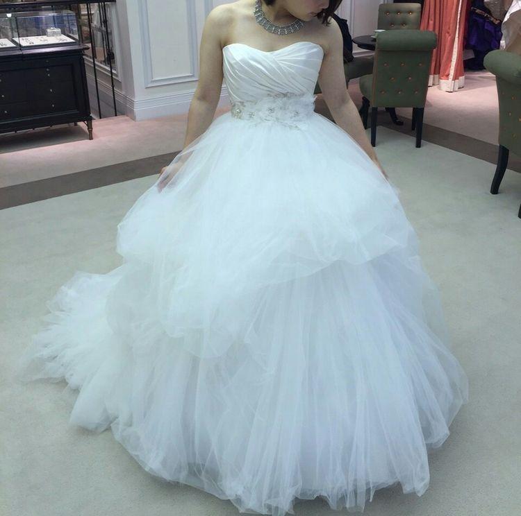 雪の妖精のようなドレス