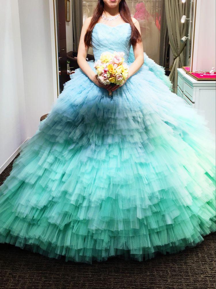 夏婚ぴったりの爽やかドレス