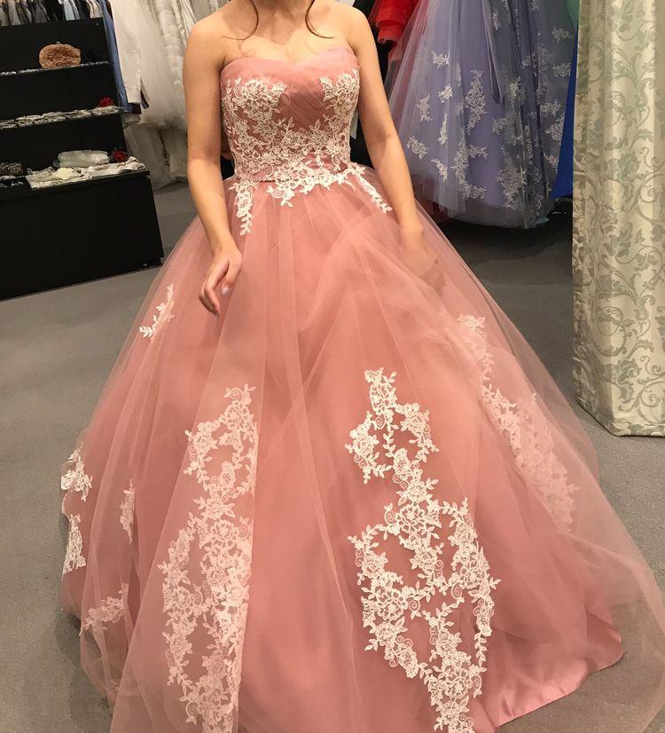 大人可愛いカラードレス