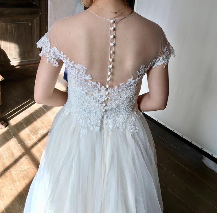 うっとりするほど繊細で優しいドレス