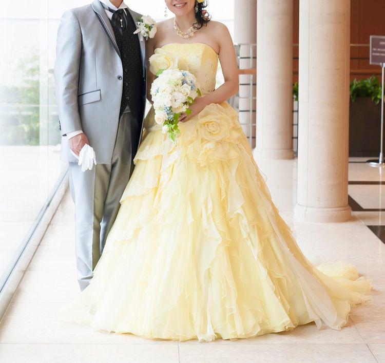 黄色のドレスに一目ぼれ!