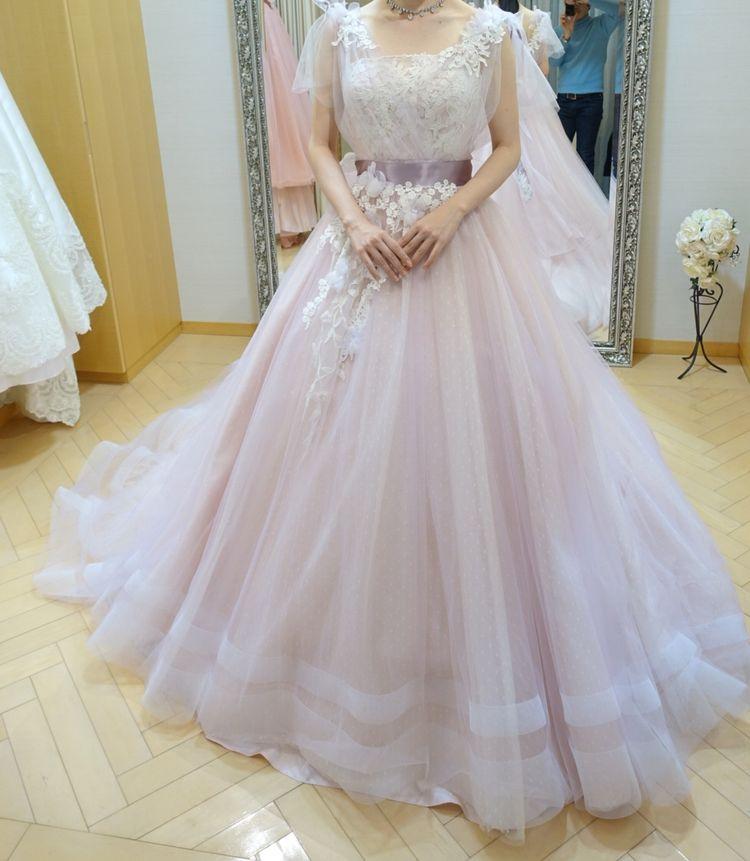 ラプンツェルのようなプリンセスドレス