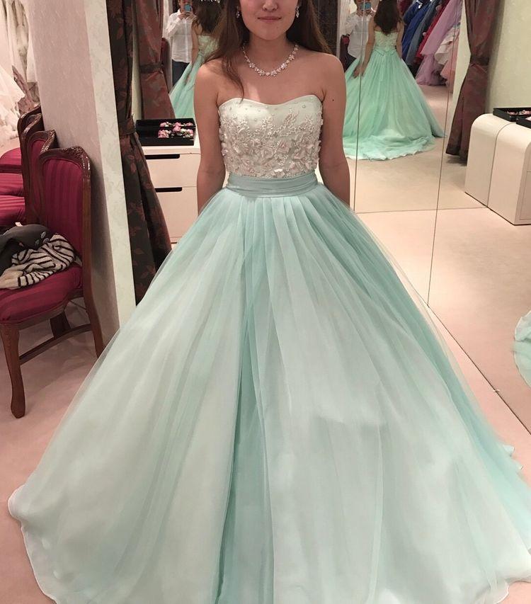 ミントグリーン カラードレス