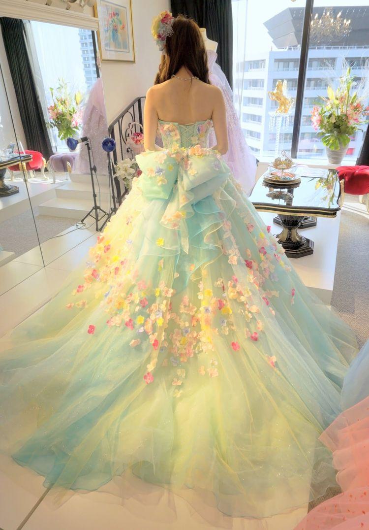 ニコルのペパーミントグリーンドレス