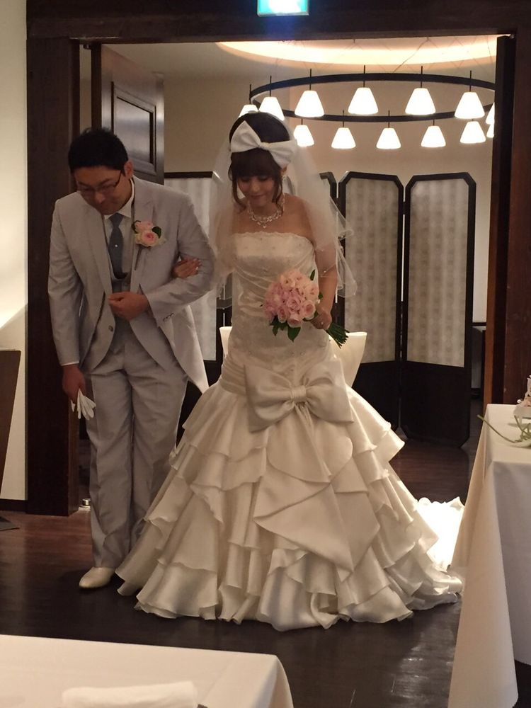 試しに着てみたマーメイドドレスが凄いよかったです!