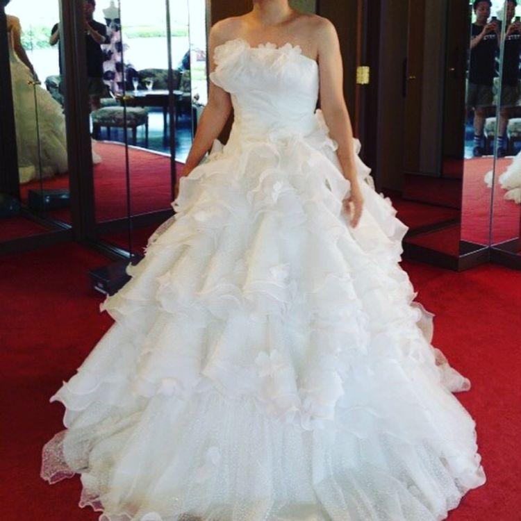 可愛いウェディングドレス