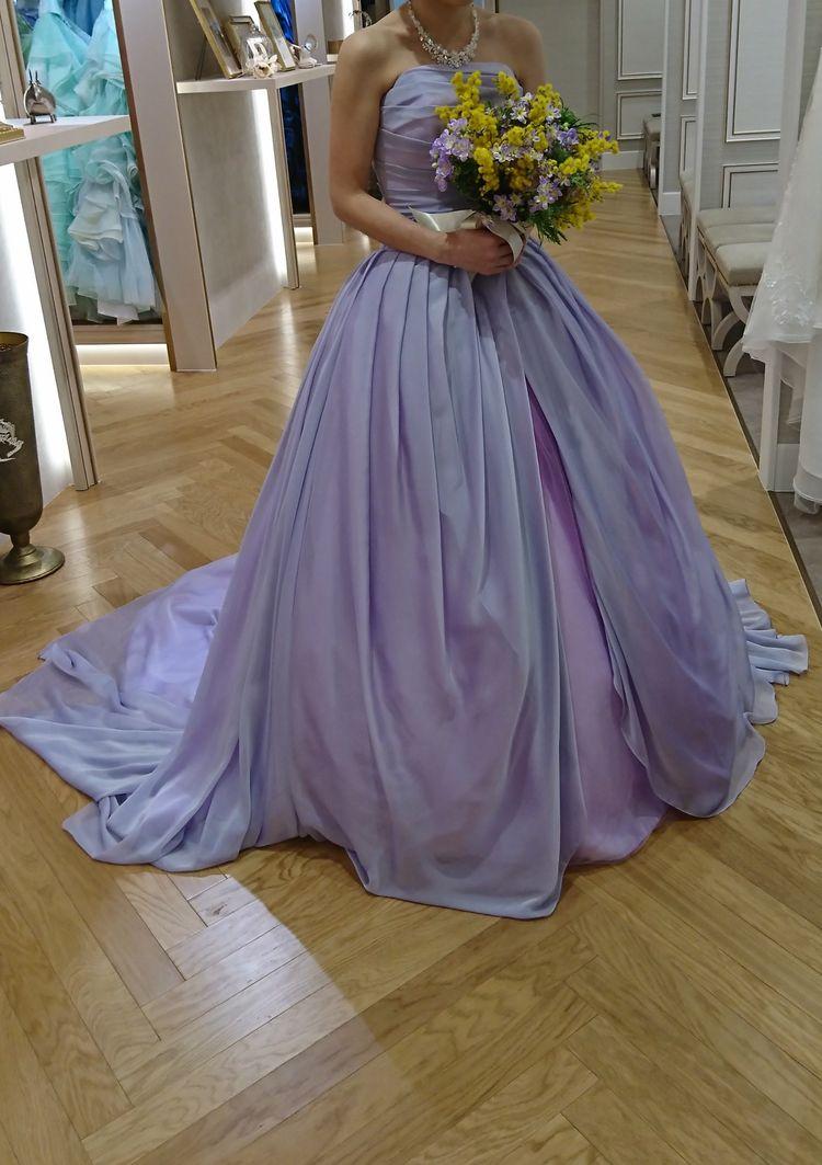 女の子の憧れラプンツェル風カラードレス