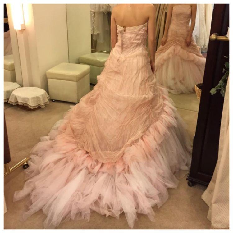 ピンクのマーメイドドレス