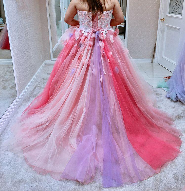 お姫様気分になれるパステルピンクドレス♡