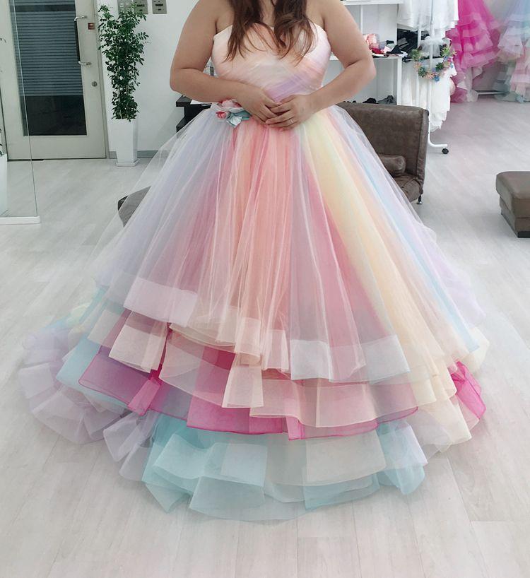 レインボーカラードレス♡