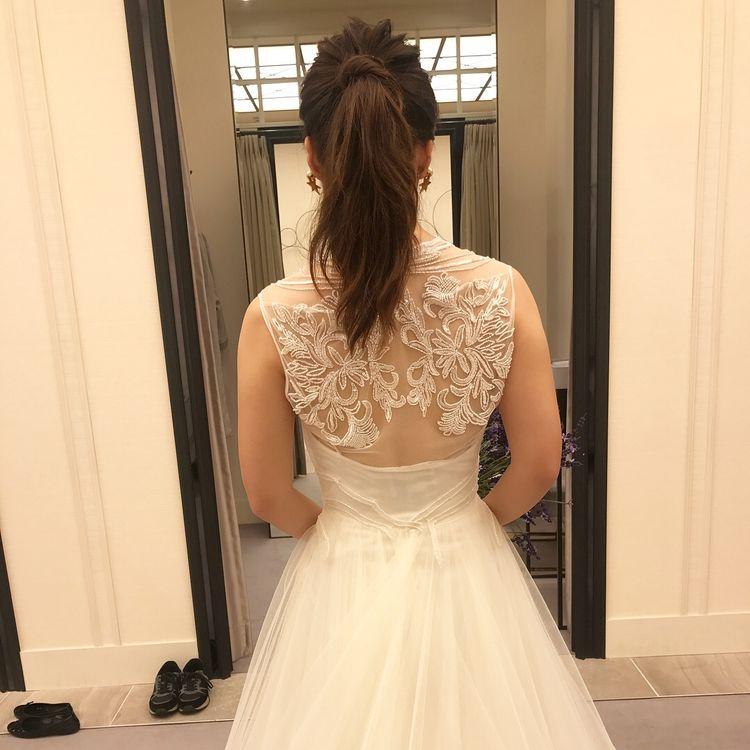 ビーズの刺繍に一目惚れして決めたウエディングドレス