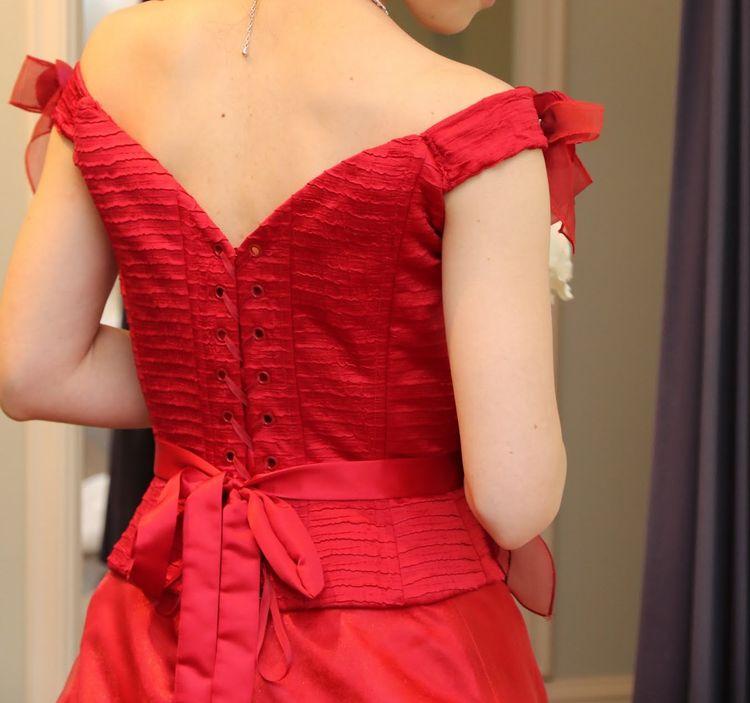 珍しいセパレートのドレス