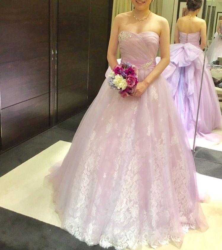 パステルカラーの妖精のようなドレス