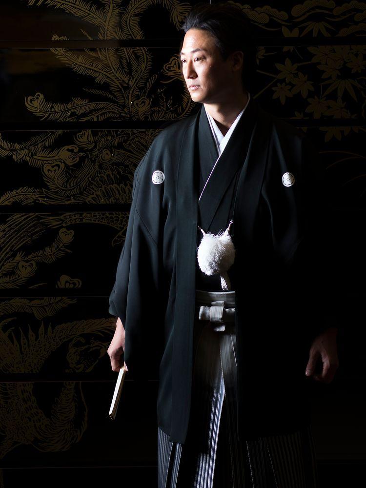 黒紋付袴(グラデーション)
