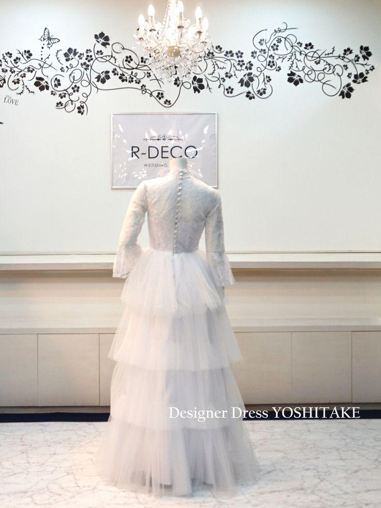 ウエディングドレス(パニエなし) スレンダー白ドレス ブライダル二次会/披露宴