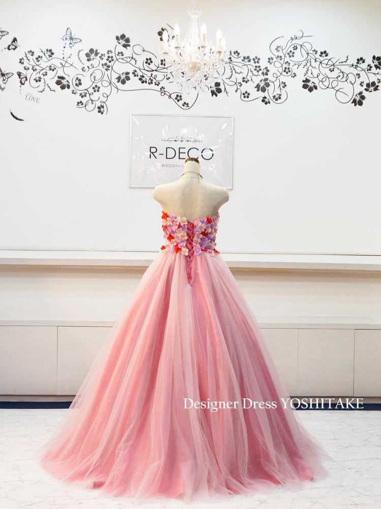 ウエディングドレス(Aラインパニエ無料) 花びらドレス ブライダル二次会/披露宴