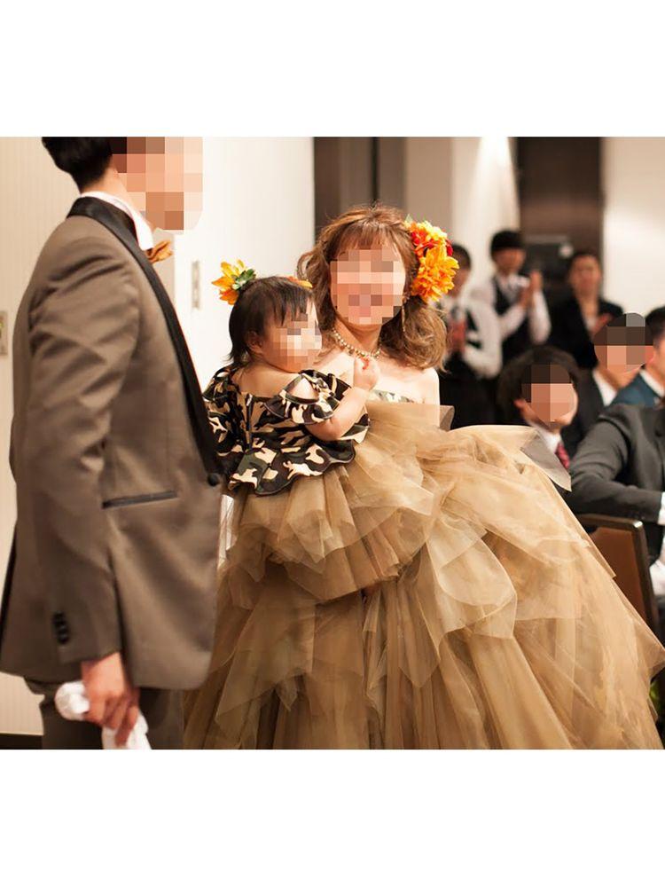 迷彩柄ドレスをデザインされましたお客様からお喜びの声いただきました