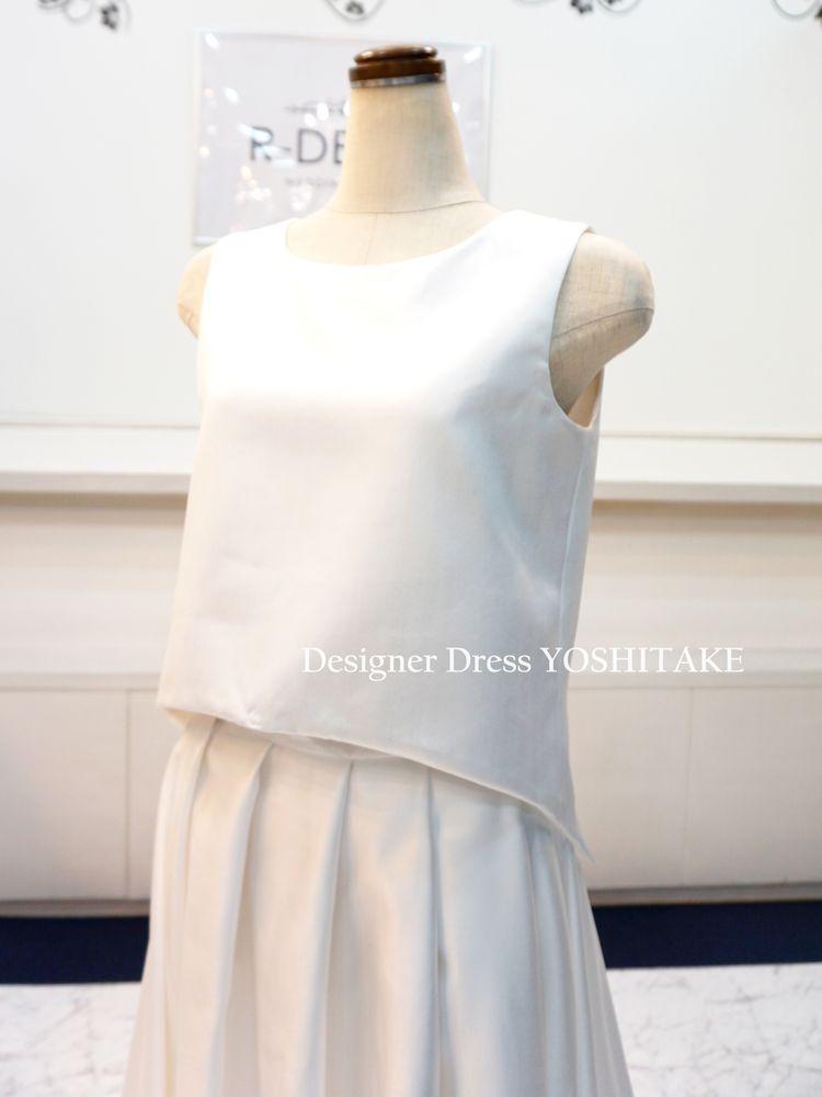 【オーダー制作】ウエディングドレス セパレートドレス 二次会用/前撮り用 ※制作期間3週間から6週間