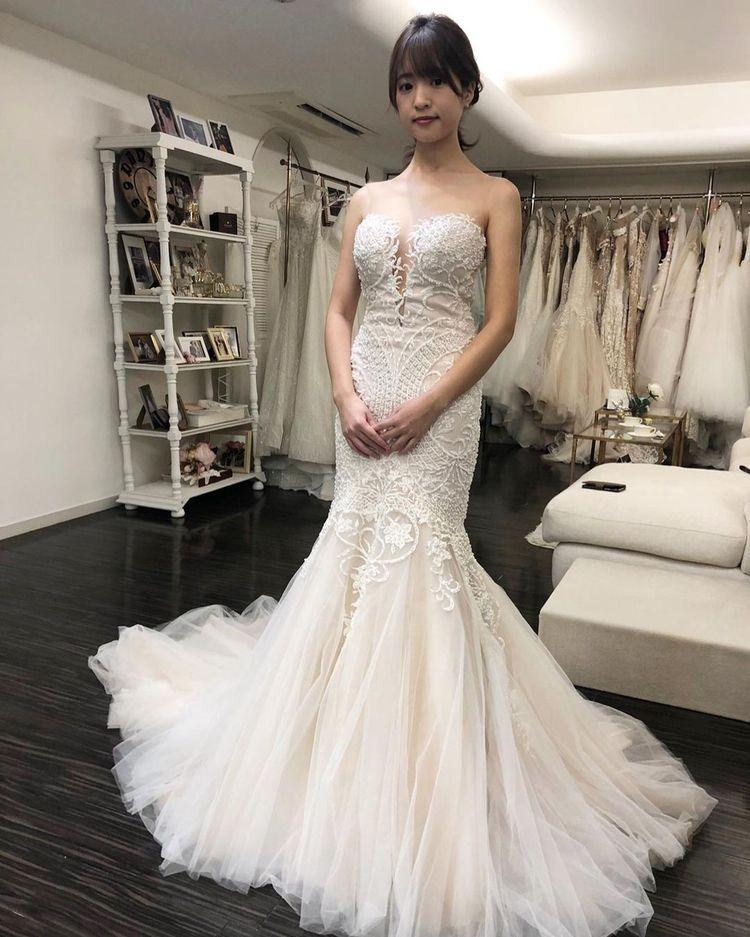 繊細で丁寧な作りの素敵なドレス