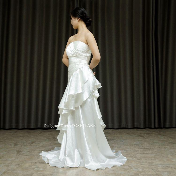 挙式用マーメイド風スレンダードレスを作りました