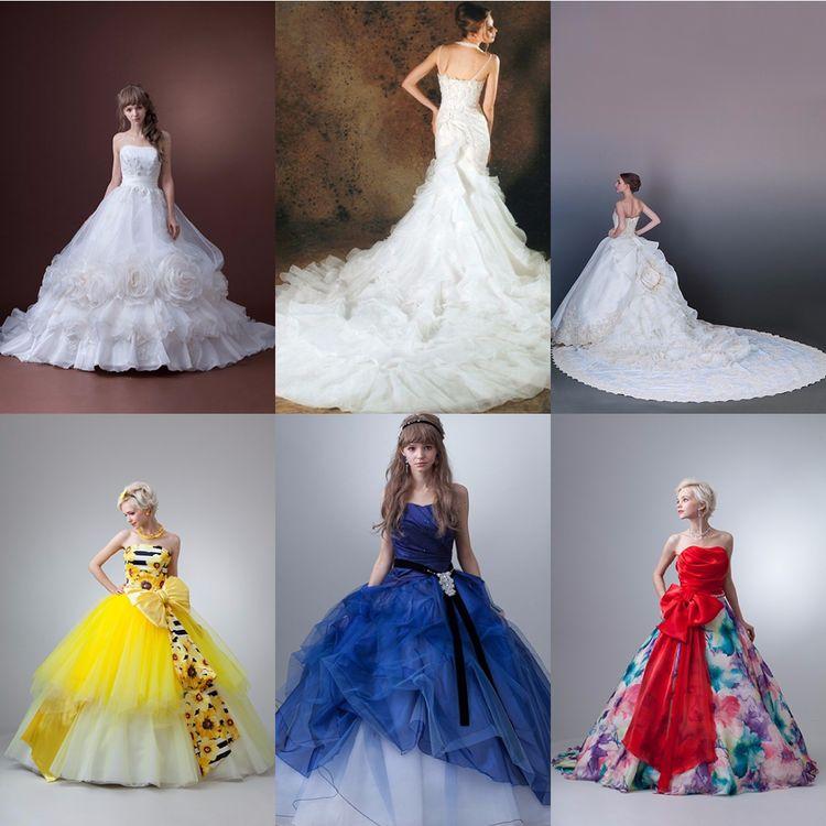 ウェディングドレス・カラードレスの総数は3000着以上。 関西最大級の品揃え。  個性派から王道ドレスまで幅広く取り揃えています。 サイズの展開も3号から33号まで。  運命の一着にきっと出会えます。