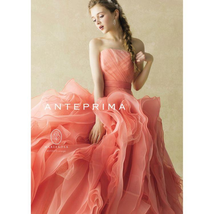 人気のANTEPRIMAはここにしかないオリジナルカラーも。 他にもカラードレスのラインアップはカラー・テイスト共に 豊富に取り揃えております。