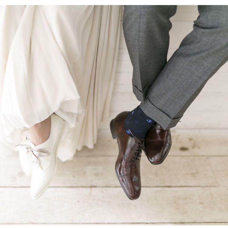 [ombre]オンブル・・・綺麗なドレスを選ぶなら、足元までこだわりを。Le temps heureuxオススメのブライダルシューズで、足元までオシャレにしてくれるアイテムです。