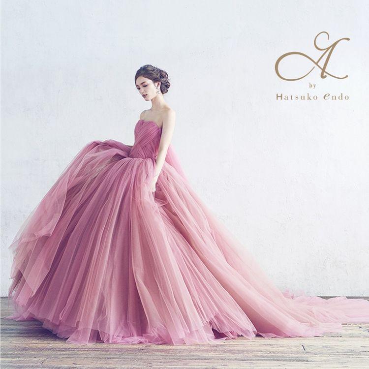 ◆Sophia Pink◆ Brand:A by Hatsuko Endo シンプルなデザインながらも細部にまでこだわってデザインされた存在感のあるドレス。 チェストトレーンがバックスタイルを一層華やかに。